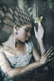 young black woman fantasy portrait double exposure - 208574956