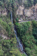 View on the Waterfall at Santuario de las Lajas in Pasto, Colombia - 208579194
