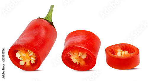 Aluminium Hot chili peppers Fresh red hot chili pepper isolated on white background with clipping path