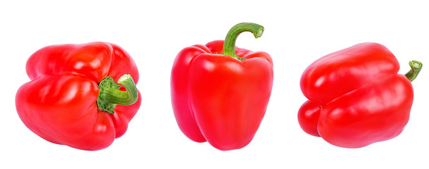 Fresh sweet pepper red bell isolated on white background with clipping path © Ekaterina