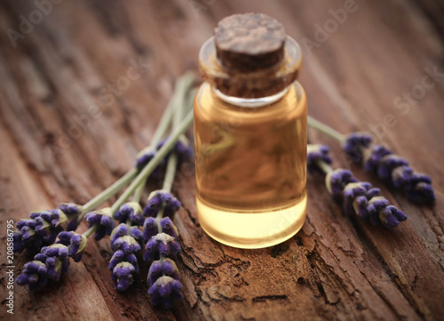 Lavender oil with flower - 208586795