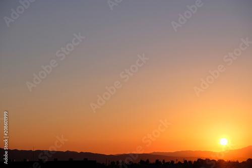Aluminium Las Vegas Amazing sunrise in Nevada
