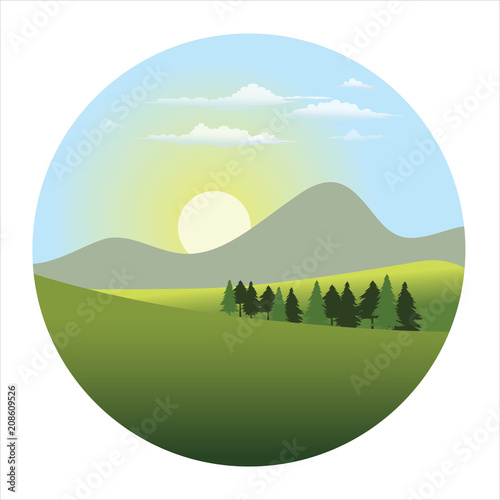 Fridge magnet landscape
