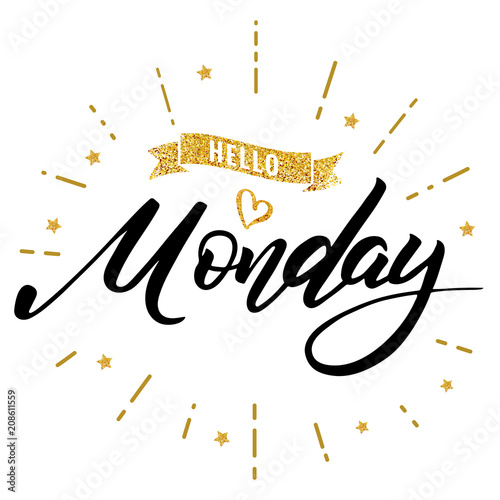 hello monday happy lettering