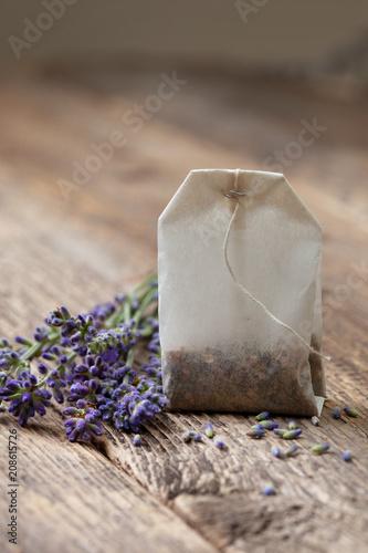 teabag with lavender - 208615726