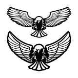 bird of prey attacks vector illustration