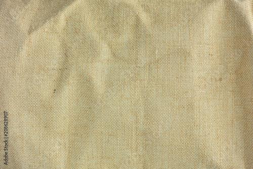 Tekstura brązu worka kanwa z delikatną siatką używać jako grunge tła wysoka rozdzielczość tekstura