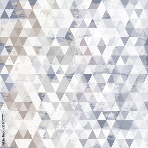 Fotobehang Abstract met Penseelstreken abstract geometric pattern background, with triangles, strokes and splashes
