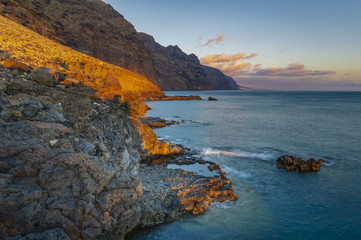 seascape,cliffs of los Gigantes seen from the cape of Punta del teno, Tenerife © Mike Mareen