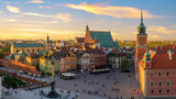 Warsaw, Royal castle and old town at sunset - 208632747