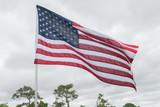 American flag on flagpole - 208636374