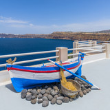 Balcony with view of ancient Fira - 208638929