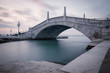 Venice old bridge panoramic long exposure photo