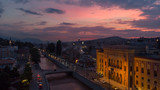 sunset over Sarajevo from air  - 208644140