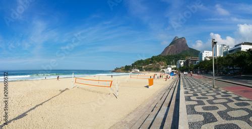 Fotobehang Rio de Janeiro Leblon Beach, Rio de Janeiro, Brazil.