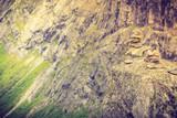 Pile stack of rocks in norway scandinavian moutain