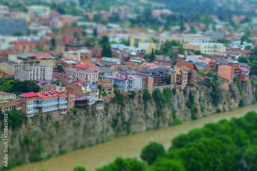 Sticker Miniature viwe of Tbilisi, Georgia