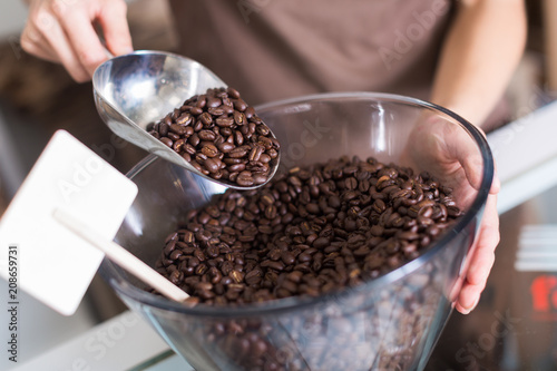 Foto Murales Image of container with coffee