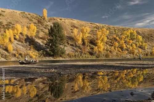 Aluminium Honing Fishermen along Snake River; Grand Teton NP; Wyoming