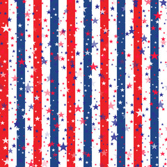 Abstract background for Independence Day of USA. Vector
