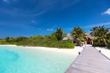 Beautiful tropical beach at Maldives - 208664394