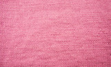 Pink knitted fabric background texture - 208665356