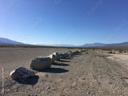 Aluminium Grijs In the mountains of California in the summer. Stones, sand, sun