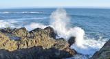 Waves crashing on the N. California coast