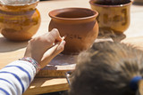 pottery wheel workshop for children - 208667712