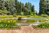 The fountain in the public park of Villa Toeplitz in Varese, Italy - 208678553
