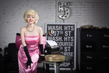 Actress in the style of Hollywood retro films