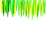 Abstract green watercolor background - 208686135