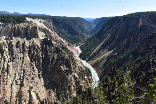 Aluminium Nachtblauw Grand Canyon of the Yellowstone River - Yellowstone National Park