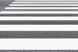 Close - up Zebra crossing pattern on city road