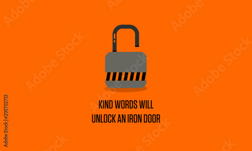 7bc9de81a0 Kind words will unlock an iron door motivational quote poster | Buy ...