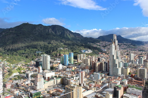 Aerial view of Bogota, Colombia - 208704358