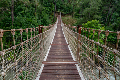 Plakat Suspension bridge in Turkey with wood walkway,Adana,Karaisali
