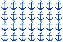 Fondo De Anclas Azules Sticker