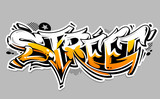 Street Graffiti Vector Lettering - 208723764