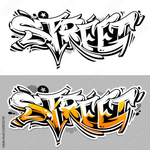Fotobehang Graffiti Street Graffiti Vector Lettering