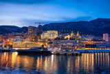 Monaco Monte Carlo At Twilight From The Sea In Europe