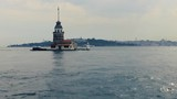 Maiden's tower with old city istanbul background - Turkey - 208736937