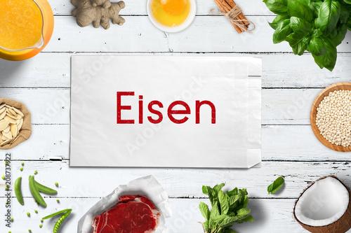 Eisen reiche Nahrungsmittel