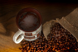 coffee and burlap - 208739576