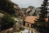 Beautiful Meteora in Greece with monasteries