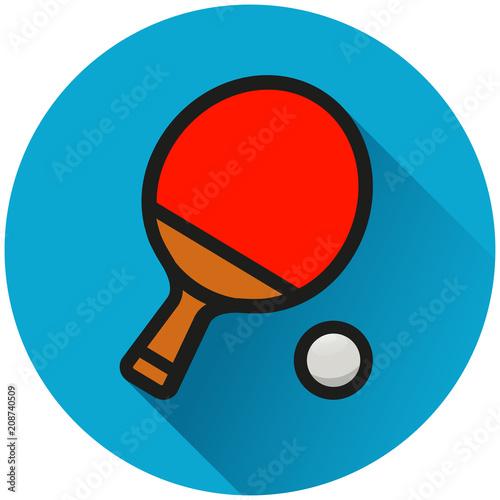 Fototapeta table tennis circle icon concept