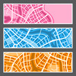Abstract city map banners. - 208741128