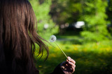 the girl with the dandelion - 208741186