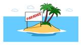 Paradies Insel im Meer für Urlaub - 208742703