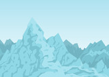 Mountains of Blue Color Image Vector Illustration